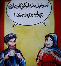 Afghan election poster