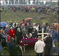 Entierros en Beslan