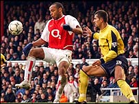 Arsenal's Thierry Henry (left)