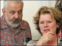 Director Leigh and start Imelda Staunton in Venice