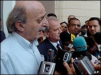 Druze leader Walid Jumblatt