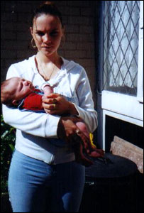 Natalie Putt with baby Rhys