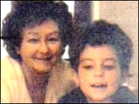 An old photograph of Jackie Blackwell and son Brian