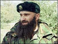 Chechen rebel warlord Shamil Basayev