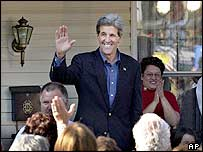 John Kerry campaigns in Canonsburg, Pennsylvania