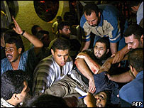 Victims of the strike at  Al-Shifa Hospital