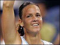 Lindsay Davenport in action at the US Open
