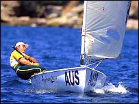 Sailing action from Sydney