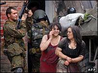 Освобожденные жительницы Беслана