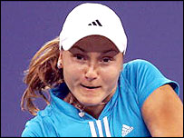 Russian Nadia Petrova in action at the US Open