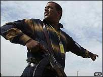 Iraqi policeman in Baghdad