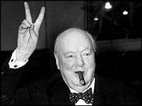 Legendary British leader Sir Winston Churchill