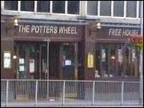 Outside the Potter's Wheel, Kingsway, Swansea