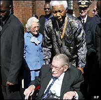 Mr Naude with Nelson Mandela