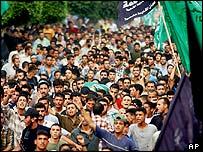 Mourners in Gaza