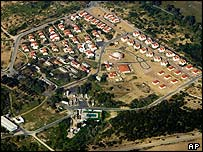 Aerial view of Netzarim settlement in the Gaza Strip