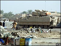 American Bradley Fighting Vehicle in Sadr city