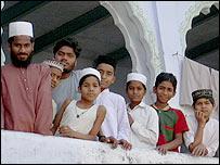 Muslim students at a seminary