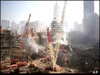 The site of the destroyed World Trade Centre in New York