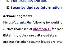 Microsoft security update