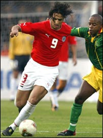 Egypt's Ahmed 'Mido' Hossam in action