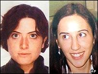 Simona Pari (left) and Simona Torretta - Italian aid workers who were kidnapped in Iraq