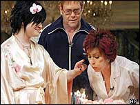 The Osbournes celebrate Sharon's birthday with Elton John