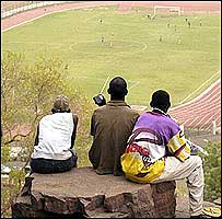 Football funs in Mali