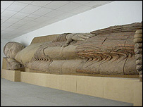 Sleeping Buddha in Tajikistan