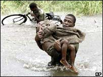 A photo from the 2000 floods, not as bad as this year's floods.