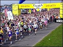 London marathon, PA
