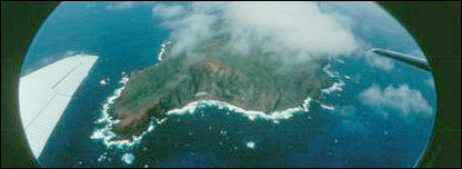 Pitcairn from the air - courtesy of Pitcairn Islands Study Center