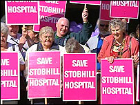 Protesters outside the Scottish Parliament