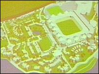 The stadium complex plans