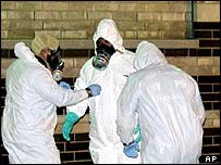 Decontamination workers