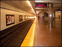 Photo of BART platform