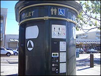 Photo of accessible street toilet