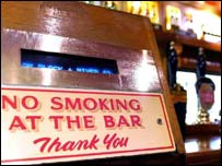 Smoking barred sign