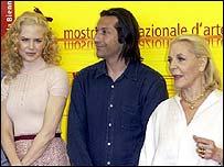 Nicole Kidman, Jonathan Glazer y Lauren Bacall