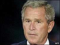 File picture of George W Bush