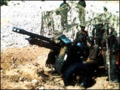 Indian soldiers with artillery