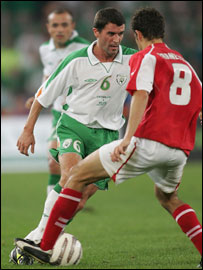 Roy Keane has been out of action recently with a rib injury