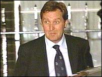 Alan Milburn leaving Downing Street on Wednesday