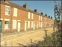 Houses at Pleasley Hill