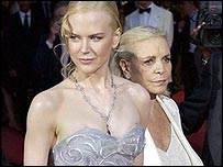 Nicole Kidman and Lauren Bacall at Venice Film Festival