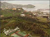 Grenada after hurricane Ivan