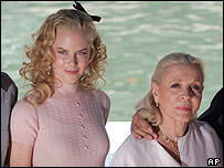 Nicole Kidman and Lauren Bacall
