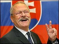 Slovak President-elect Ivan Gasparovic