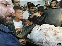Abdel al-Rantissi's body