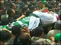 Abdel Aziz al-Rantissi is buried in Gaza